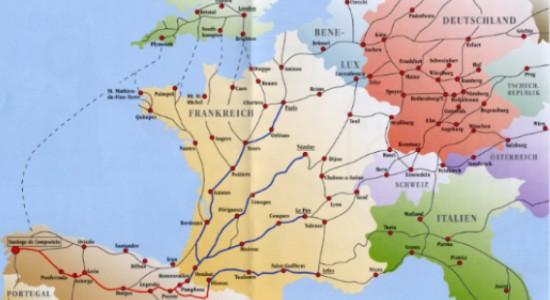 Jakobsweg Karte Frankreich.Jakobsweg